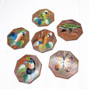 Hand Painted Tropical Coasters